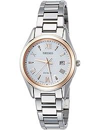 [エクセリーヌ]EXCELINE 腕時計 EXCELINE ソーラー電波 チタンモデル ホワイト文字盤 SWCW150 レディース