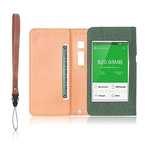 GlocalMe G3 専用 モバイルルーター ケース 保護フィルム 付 (グリーン)