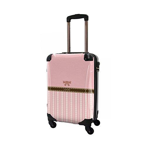 CARART(キャラート) アート スーツケース プロフィトロール バニラ (桜色) ジッパー4輪 機内持込 CRA02-008B