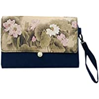 ACVIP Women's Chinese Ink Paint Wristlet Pouch Handbag