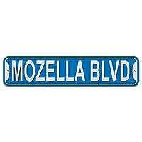 Mozella 大通り - 青 - プラスチック壁符号