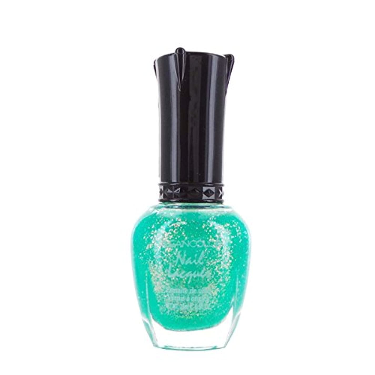 KLEANCOLOR Nail Lacquer 4 - Chunky Holo Teal (並行輸入品)