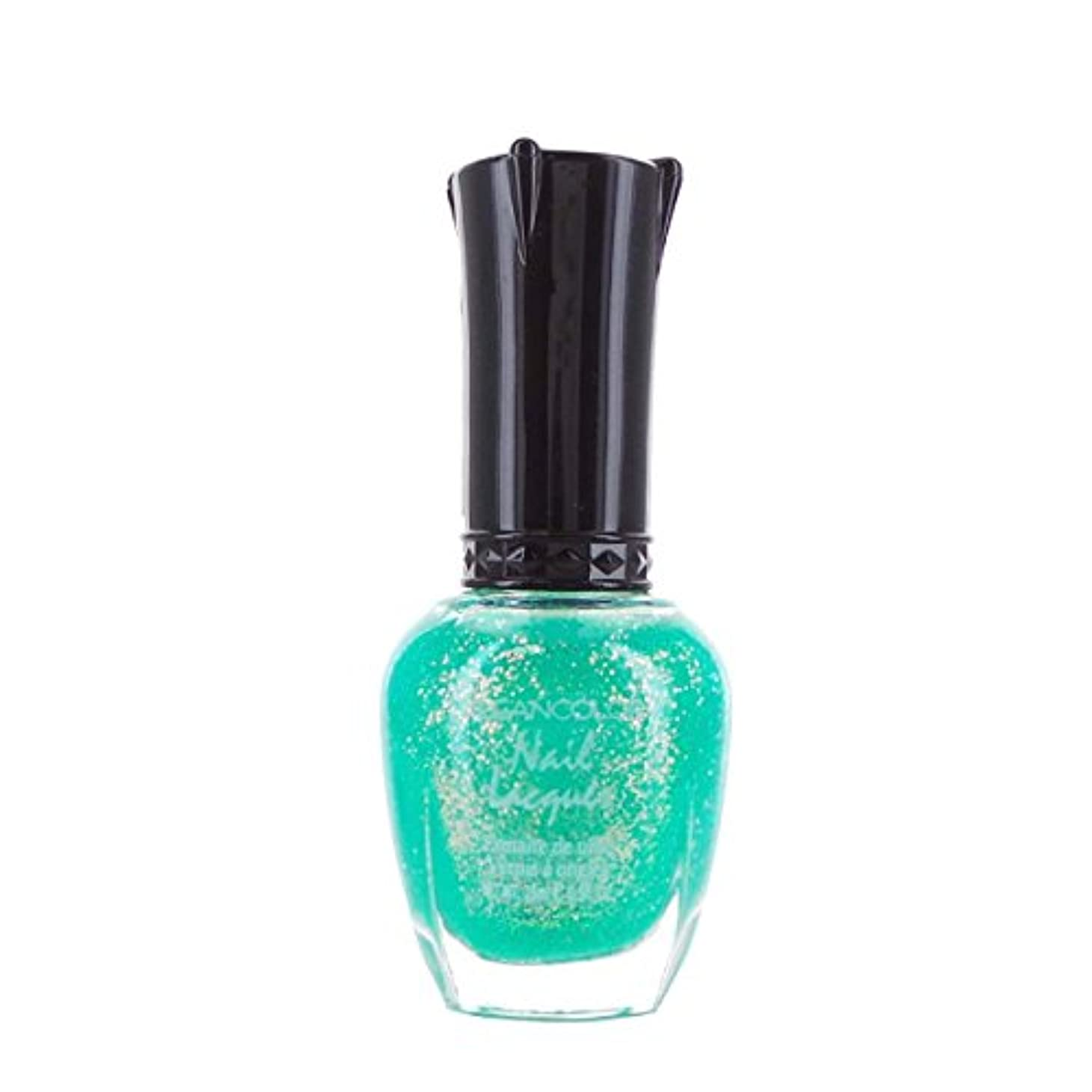 (3 Pack) KLEANCOLOR Nail Lacquer 4 - Chunky Holo Teal (並行輸入品)