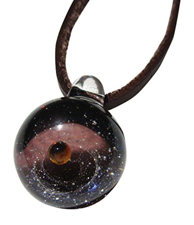 有望無心雄大な銀河ガラス パープル ゴールドラウンド DW1191