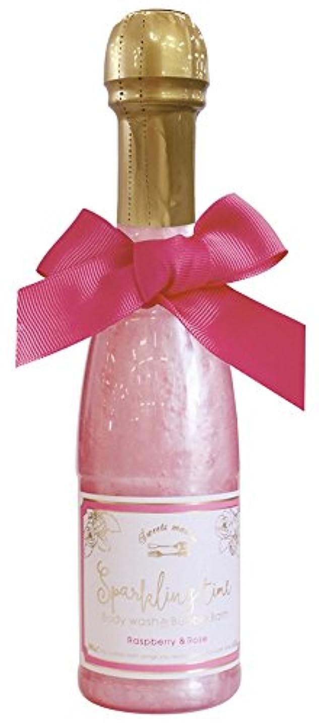 湖視線反応するノルコーポレーション 入浴剤 バブルバス スパークリングタイム ラズベリー&ローズの香り 240ml OB-SMM-38-1
