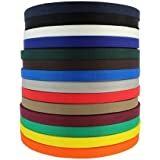 SGT KNOTS Polypropylene Webbing (1 inch - 2 inch) Lightweight (LW), or Heavyweight (HW) - Polypro Flat Rope - for Backpacks,