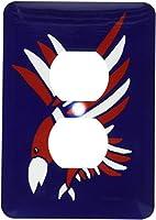 3drose LSP _ 196247_ 6レッド、ホワイト、ブルーPatriotic Flying Eagle–2プラグコンセントカバー