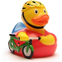 DUCKSHOP | Cyclist Rubber Duck | Bathduck | L: 8,5 cm by Duckshop