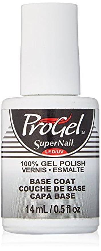 調整流行ソーシャルSuperNail ProGel Gel Polish - Base Coat - 0.5oz/14ml