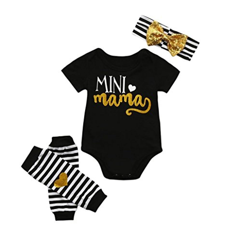 DAISUKI 幼児 新生児 ロンパース+ペアレギンスセット+ヘアバンド 上下3点セット 子供服 ベビー服 セットアップ  春夏出産祝い 女の子 6-24ヶ月