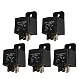 Ehdis モーターリレー5ピン24Vコイル40アンペアSPDTモデルNo .: JD2912-1Z-24VDC 40A 28VDC、コンタクタリレーは、電源スイッチ、オートスイッチおよびスターター、5パック