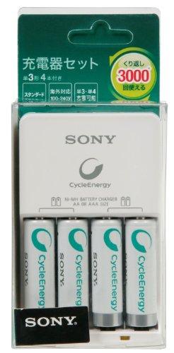 ソニー SONY 充電器セット BCG34HH4R : 単3形・単4形対応/単3形充電池4本付属 BCG34HH4R