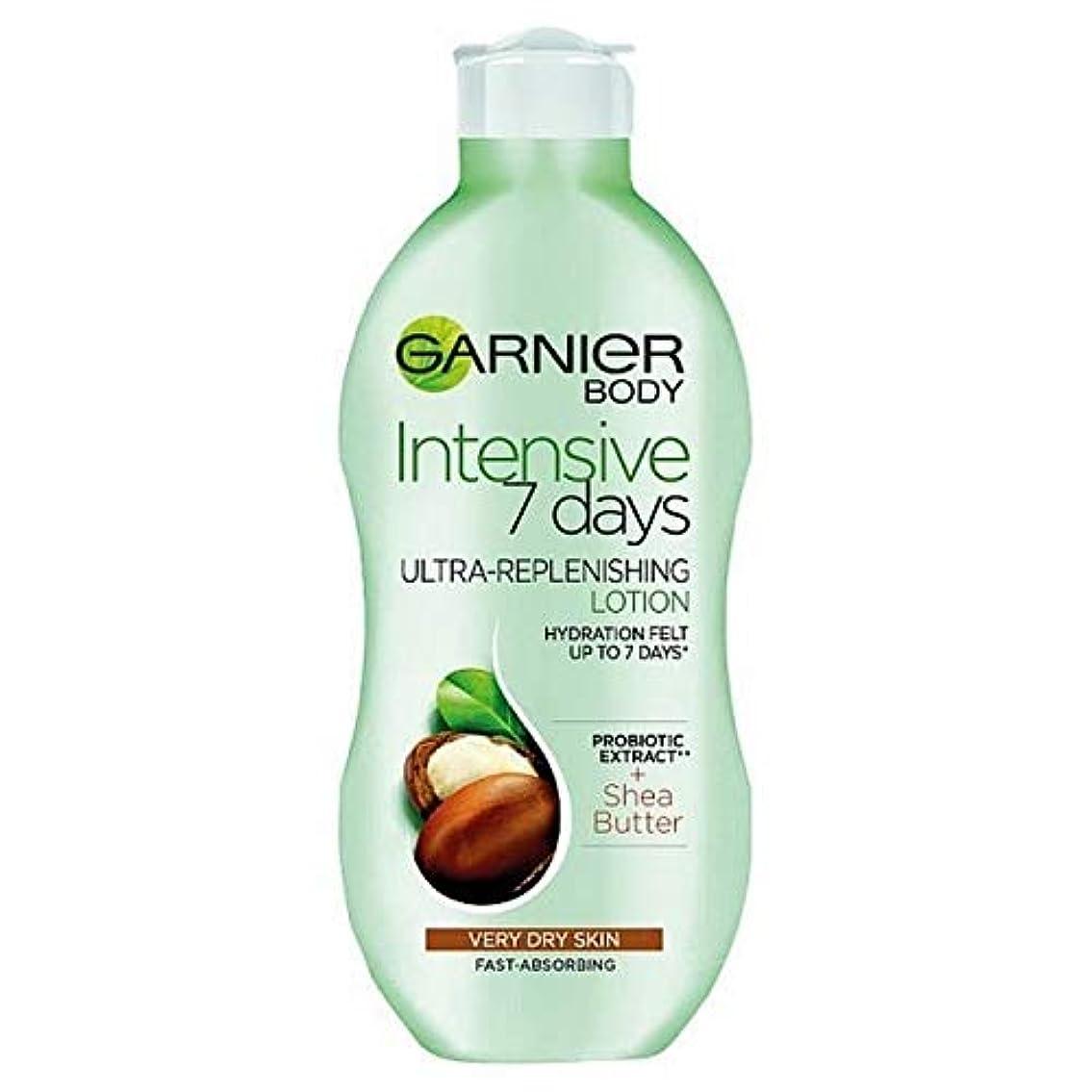 最初法律によりハンバーガー[Garnier ] ガルニエの集中7日間シアボディローション乾燥肌用400ミリリットル - Garnier Intensive 7 Days Shea Body Lotion Dry Skin 400ml [並行輸入品]