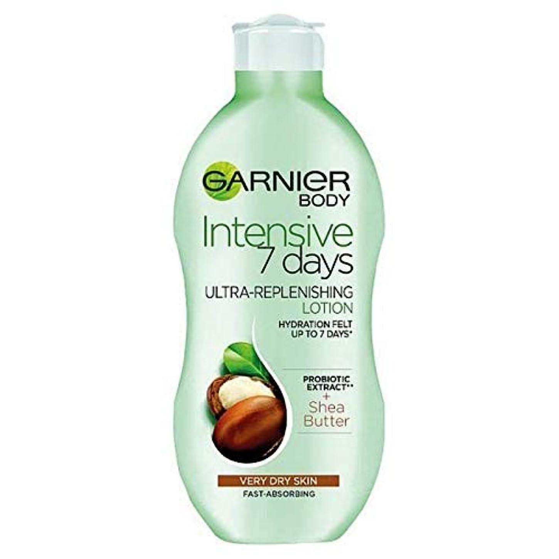 タンパク質しない定規[Garnier ] ガルニエの集中7日間シアボディローション乾燥肌用400ミリリットル - Garnier Intensive 7 Days Shea Body Lotion Dry Skin 400ml [並行輸入品]