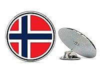 NYC Jewelers ノルウェー国旗 メタル 0.75インチ ラペルハット ピン タイタック ピンバック