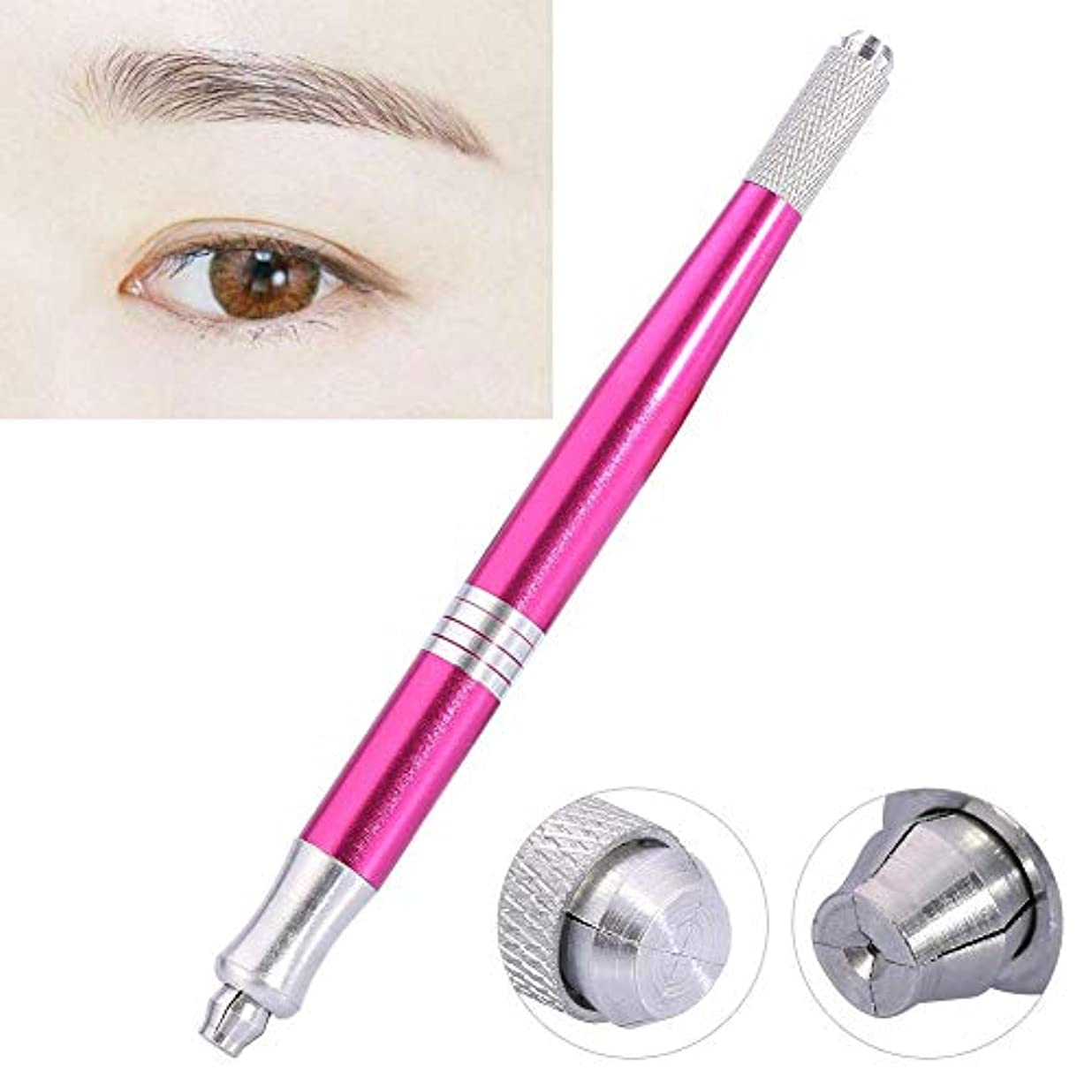 励起相対サイズステッチタトゥーペン - 眉毛タトゥーペンマニュアルマイクロブレードペンアイライナーリップ、手刺繍アイブロウペンシル - ウォーターフォグの眉毛を作成します