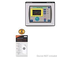 アレンBradley PanelViewコンポーネントc1000スクリーンプロテクター、BoxWave ® [ ClearTouchアンチグレア2- Pack]指紋防止マットフィルムスキンのアレンBradley PanelViewコンポーネントc1000