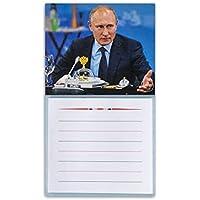 マグネット付きブロックメモ「ウラジーミル・プーチン」、サイズ10x16㎝