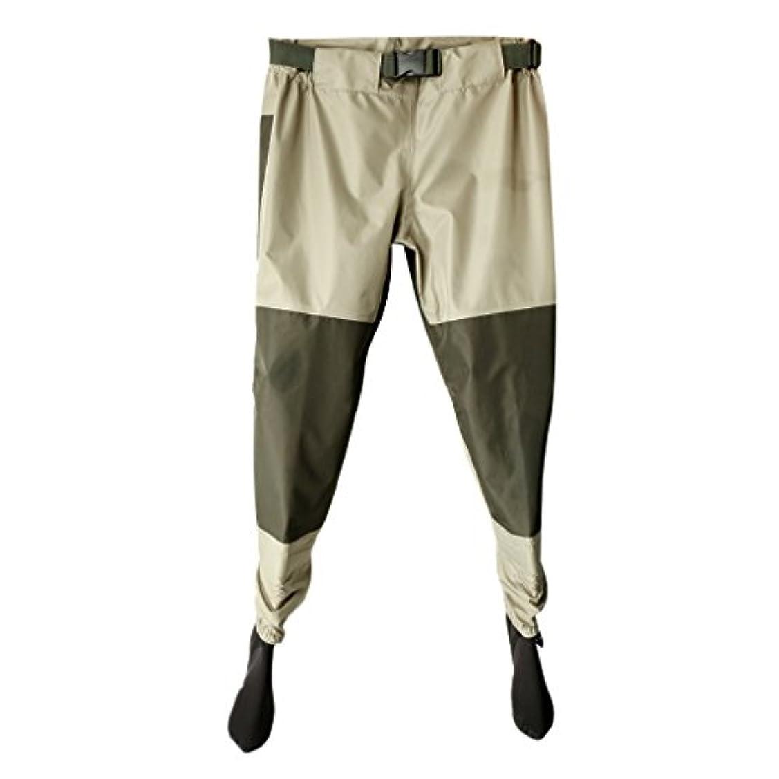 虚偽緊張アレイ軽量 釣り ウェーダー 通気性 防水 ストッキング フット パンツ 4サイズ選べる