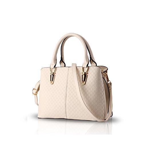 Nicole&Doris 2016年のファッショントレンド女性のハンドバッグ袋のハンドバッグのショルダー・バッグレトロカジュアルメッセンジャーバッグ女性用(Creamy-white)