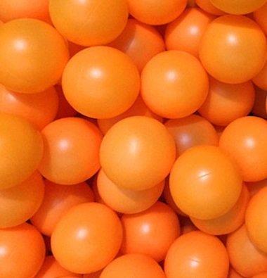 卓球 ボール ピンポン玉 娯楽用 レジャー用 大量の 約100個セット 無地 /V600 (オレンジ, 100個)