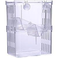 自浮き式孵化ボックス 高透明隔離ボックス 多機能孵化機 分離されたボックス アイソレーション、繁殖、給餌小さな魚種 バケツ魚、グッピー、メダカなどの産卵ボックス