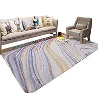 クリエイティブ抽象カラーカーペットファッション大理石のリビングルームの装飾カーペットホームソフト長方形のリビングルームのソファ滑り止めマット寝室クロールマット (サイズ さいず : 160×230cm)