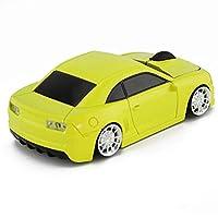 スポーツ車形状2.4GHzワイヤレスマウス光学式マウスUSBレシーバー付きPCラップトップコンピュータ1600dpi 3ボタン