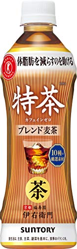 伊右衛門 特茶 カフェインゼロ 大麦ブレンド茶 ペット 500ml トクホ ×24本