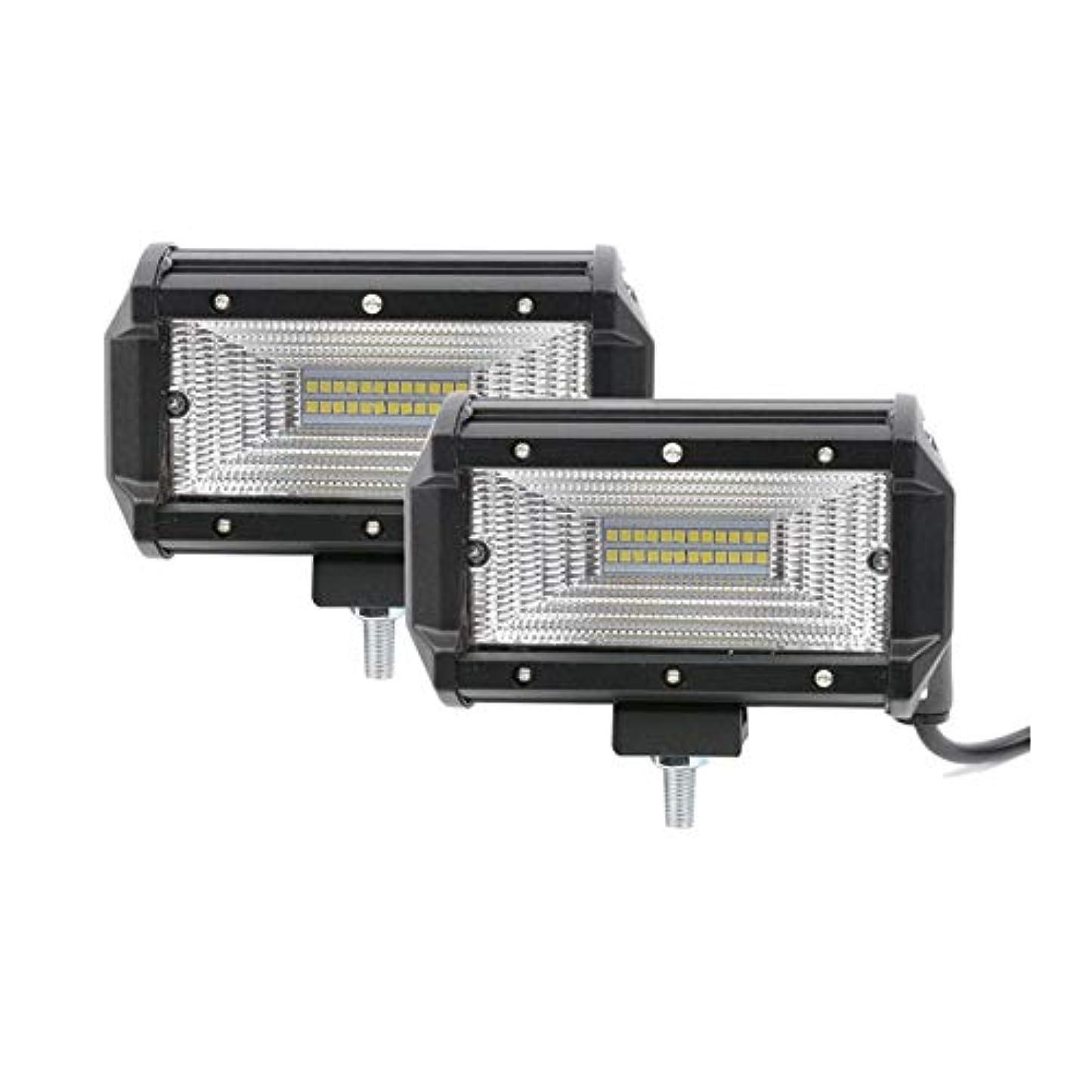 資源待つ意味のあるESA Supplies LEDスポットライト トラック用 IP 67 防水 ドライビングライト 72W LED オフロードライト 4x4 オートバイ トラック ATV UTV用 2個セット