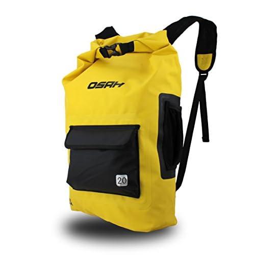 CYCLINGNET 防水(IPX6)パック DRY PAK バックパック サイクリング・ツーリング・スキー・カヤック・ハイキング用 (B15602-YELLOW)