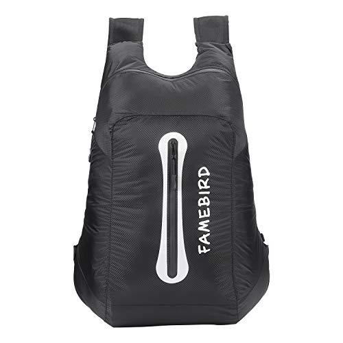 折りたたみ式防水・超軽量・耐久性のあるバックパック普段用、旅行、ハイキングに...