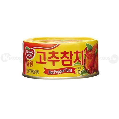 [0913] DONGWON 唐辛子 ツナ缶詰め サラダ や 炒め物 にオススメ! 1個(150g) 韓国産 [並行輸入品]