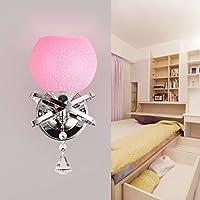 BXJ ウォールライトヨーロッパクリスタルウォールランプベッドサイドランプベッドルームランプリビングルームシンプルウォールランプウォールランプ (Color : B, サイズ : 1)