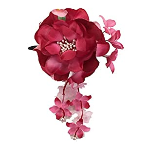 [粋花] Suika 和柄髪飾り 3145 赤