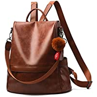 Ladies Anti-Theft PU Leather Travel Backpack Casual Daypack Women Tote Shoulder Bag