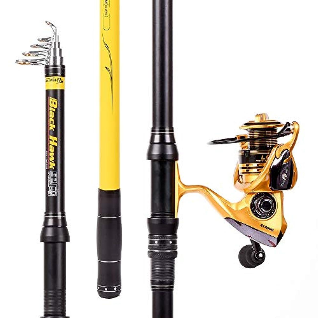 針電圧中古釣り竿 炭素繊維海釣りロッド肥厚ロッド壁ロングスローロッド投げ釣りロッド卸売釣り機器 (Size : 2.1m)
