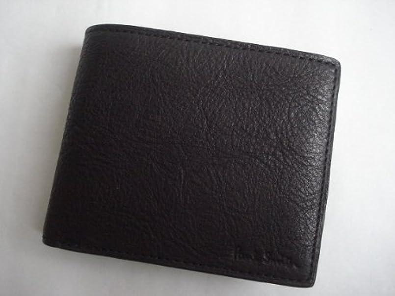 構成表面始まりポールスミス(paul smith) 折財布 ソフトベジタンレザー ブラック (メンズ)