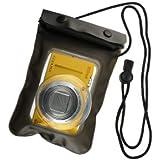 デジタルカメラ用 防水ケース CANON SONY Nikon OLYMPUS FUJIFILM CASIO などのデジカメ オンロード (OS-025) ズームレンズ対応 ストラップ付き ジップロック式 海やプール、お風呂でも使える防水アイテム