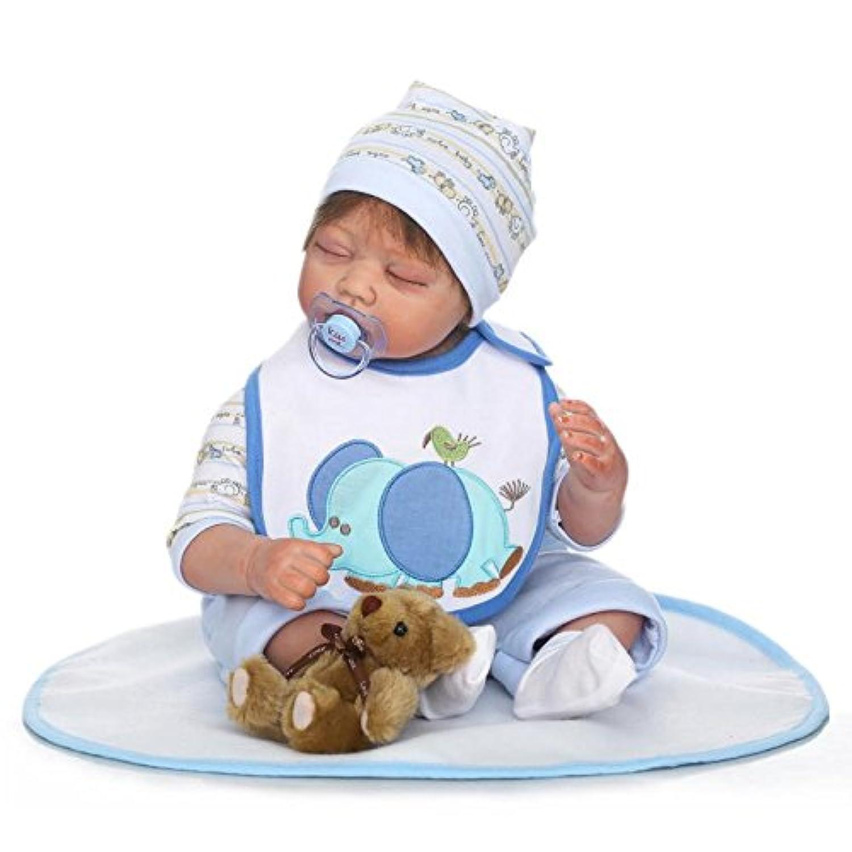 ピンキー55 cm 22インチSleepingソフトビニールシリコン人形True Looking Realistic Reborn人形Baby Girl Boy磁気口ダミーXmasギフト