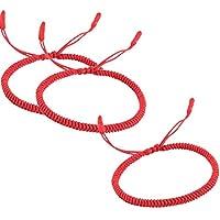 Rimobul Handmade Tibetan Buddhist Lucky Rope Bracelet - 3 Pack
