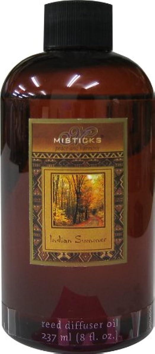 質量インディカ質素なMisticks リードディフューザー リフィル Indian Summer インディアンサマー 237ml