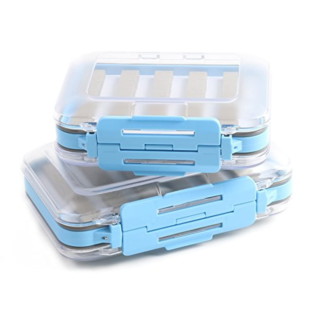 Clear B Blesiya Waterprooof Fly Fishing Tackle Box Lures Spoon Hook Bait Storage Box Case with 12 Compartments