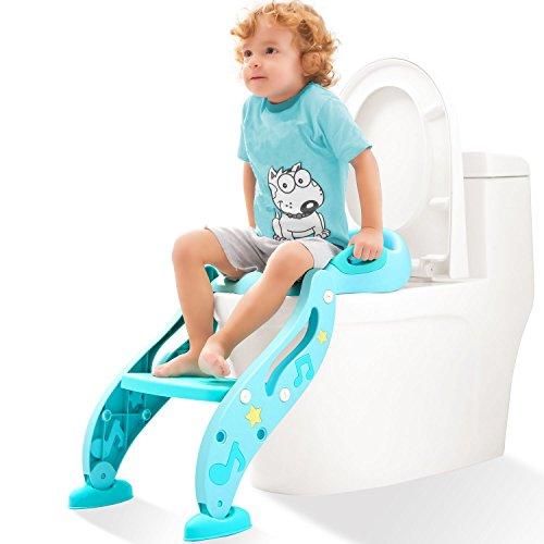 KIDPAR おまる トイレトレーナー オマル 折りたたみ トイレ用 補助便座 トイレ 取外し可能 ベビー 踏み台 ステップ式 トイレトレーニング