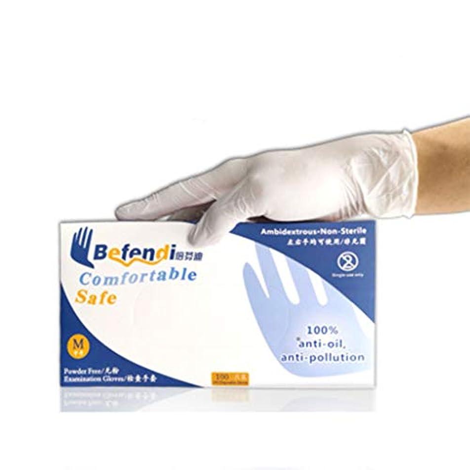 スリーブ塩辛い転送使い捨てニトリルラテックス手袋、100枚ゴム食品グレード在宅医療研究室の耐酸性および耐アルカリ性手袋