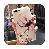 11 Pro高級3DシリコンケースiPhone 6 7 6 s 8プラス5 s SE X XS MAX XR耐衝撃性の花電話ケースiphone 6 7ケースガール-Flower 02-For iPhone X