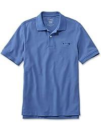 L.L.Bean(エルエルビーン) メンズ プレミアム・ダブル・エル・ポロシャツ、半袖 カタディン・ロゴの刺繍入り ジャパン・フィット