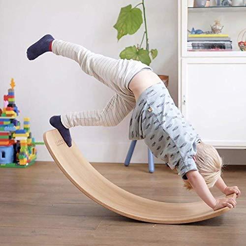 子ども北欧の木材湾曲プレート、バランスビーム、シーソーおもちゃ早期教育と子どもたちの訓練はヨガ、プレートは、バランスシートをスイング湾曲しています,Natural