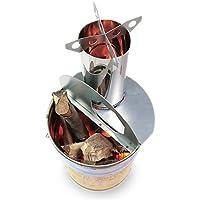 ロケットストーブ 『焚火缶』 自作キット | ペール缶にポン置き加工なし | お庭の 薪ストーブ もしくは 焼却炉 に使える 焚き火台