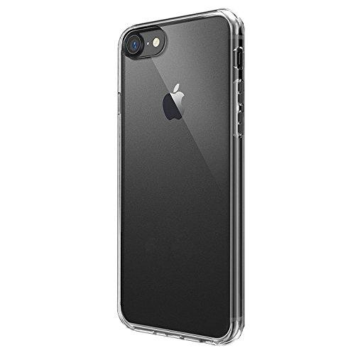 iPhone 8/iPhone 7 ケース カバー [Fitwhiny]アイフォン アイフォーン8 iPhone8 滑りにくい スタイリッシュTPU シリコンケース ソフトケース カバー つるつる質感 スリムケース 薄型 軽量 simフリー apple 透明 マットフロスト クリア クリアケース 374-2S